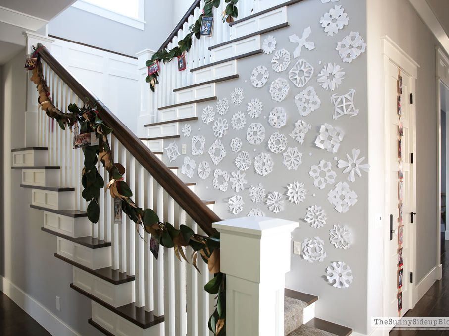 interior stair railing designs ideas and decors most.htm 9 beautiful staircase decorations for christmas  staircase decorations for christmas