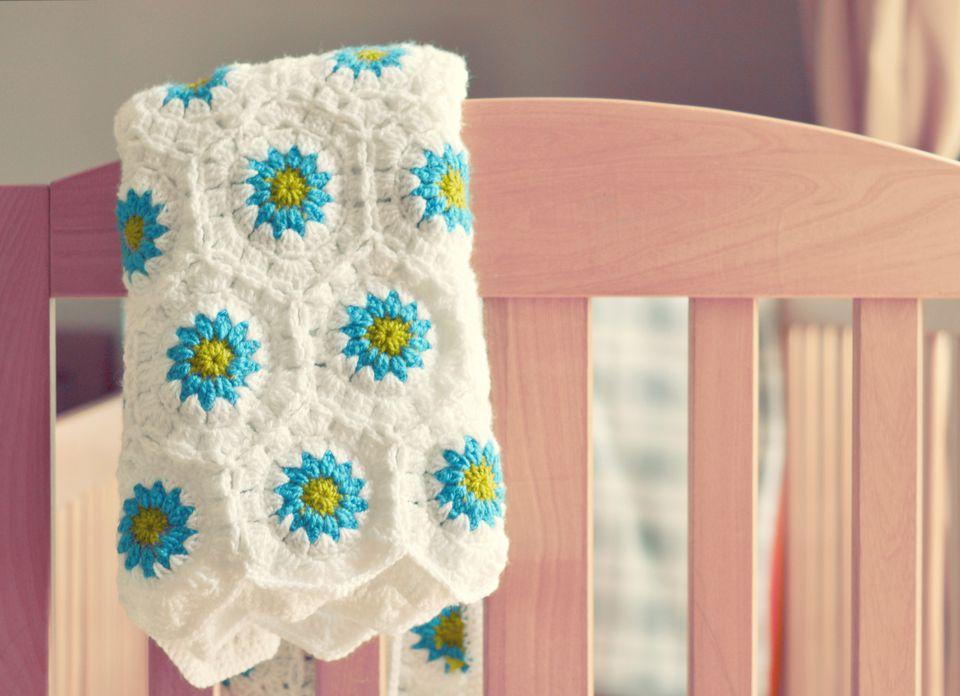 A baby crochet blanket