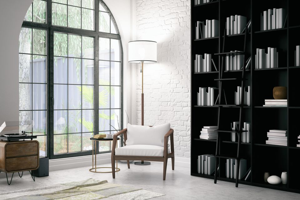 Modern Interior with a Chair and Books
