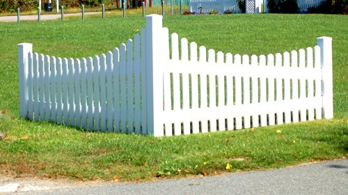 Photo of a corner fence used in isolation.