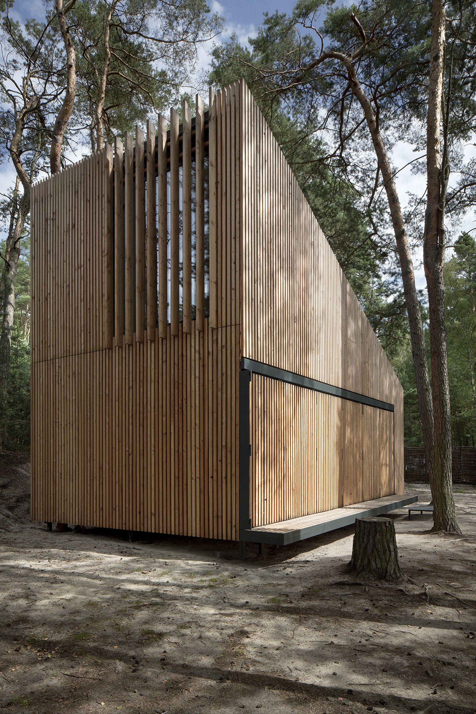 Scandinavian wood building