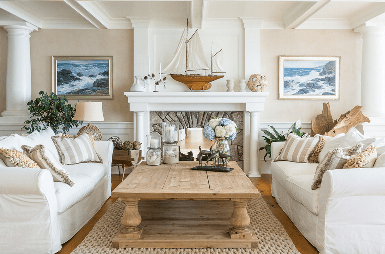 Beach House Living Room Sofa Themed Home Decor For Furniture ...