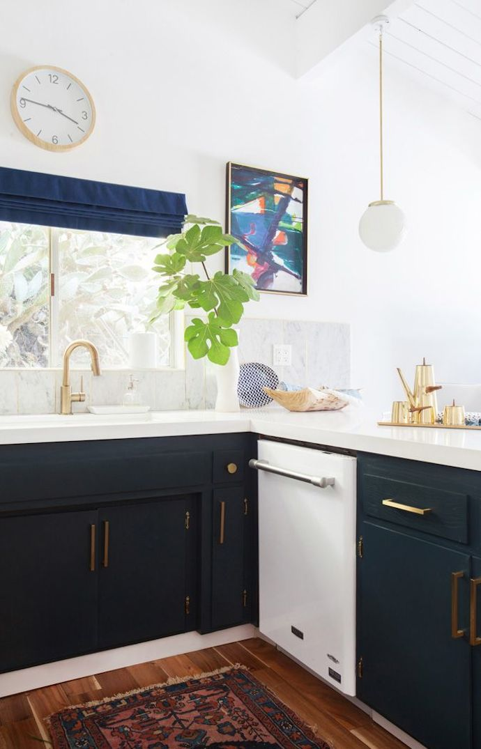 Deep Teal Kitchen Cabinets