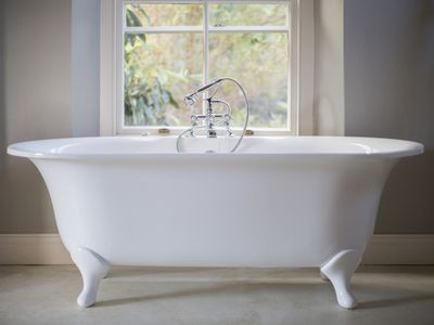 A clawfoot tub with a beautiful, clean finish