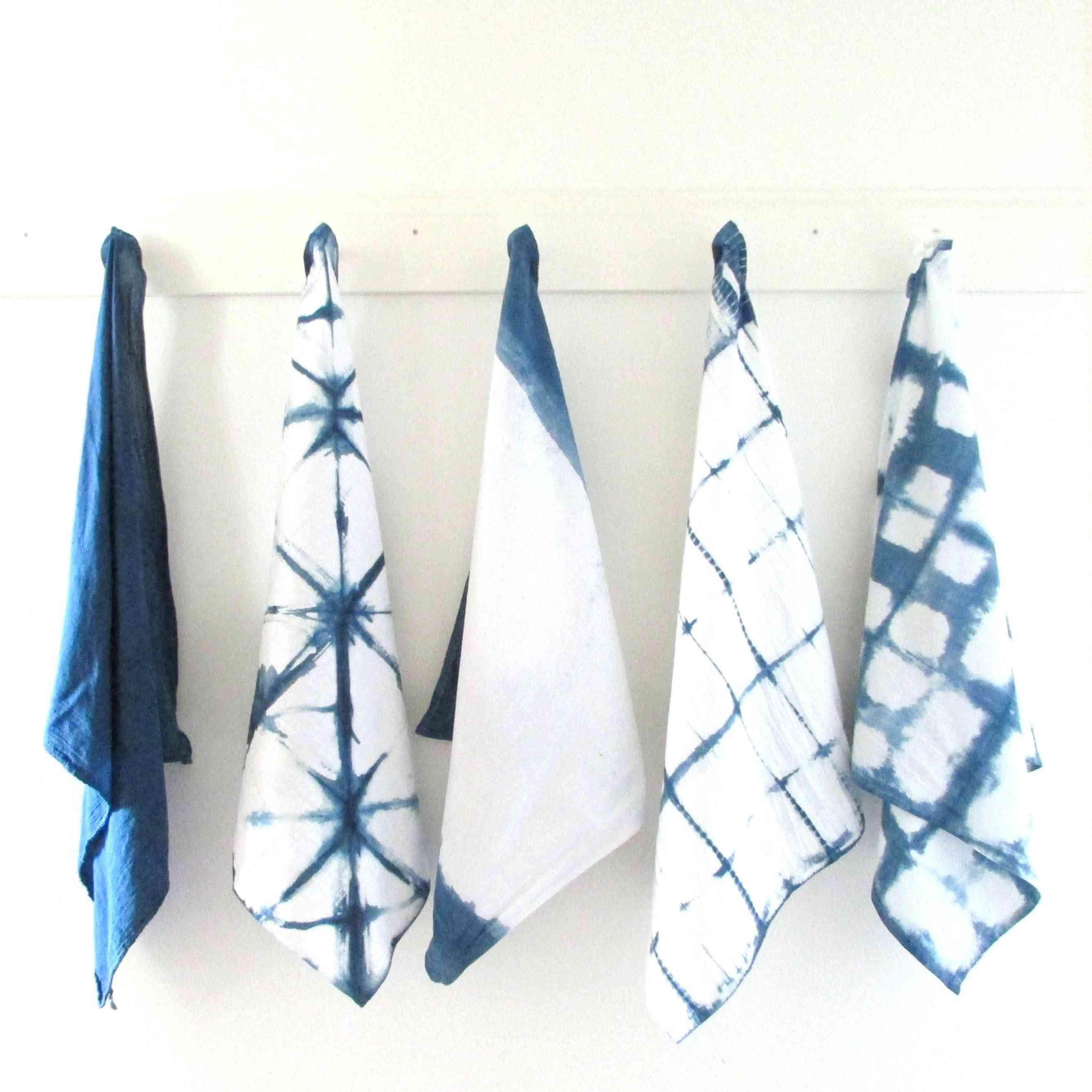 DIY Indigo Tea Towels