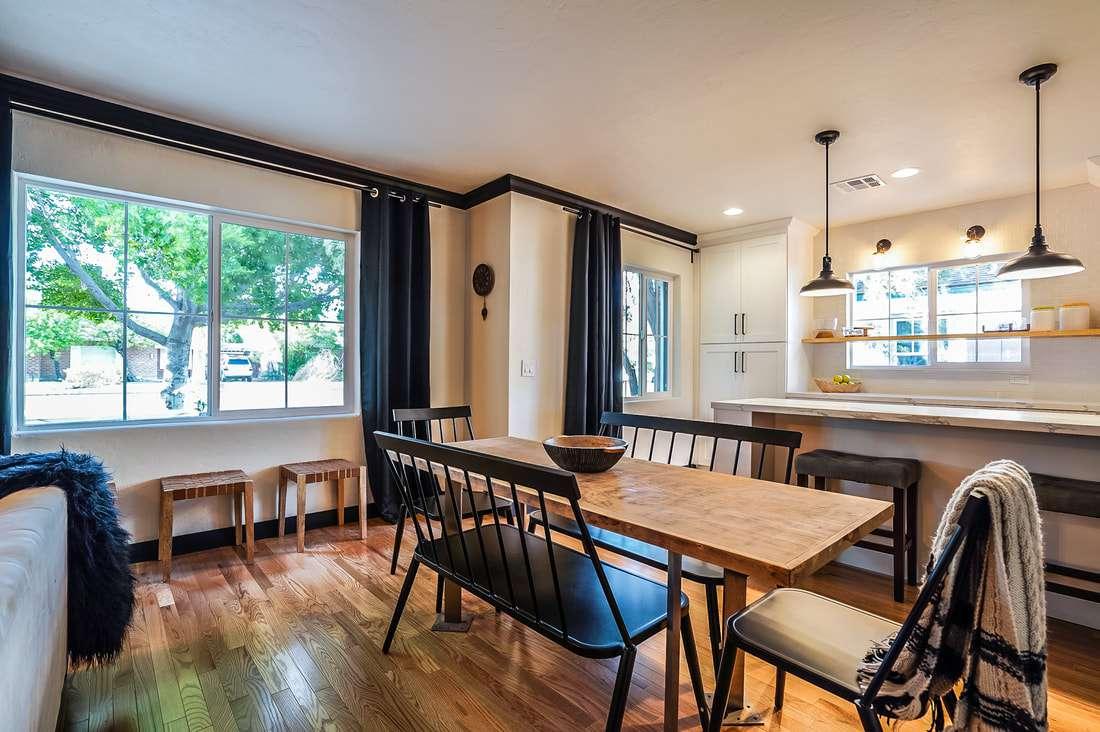 Modern take on shake inspired cottage kitchen