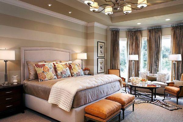 stripe walls bedroom