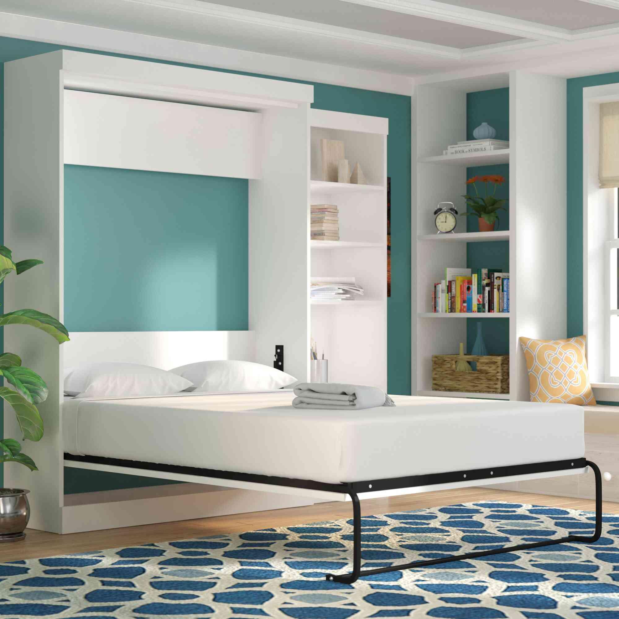 Beachcrest Home Navarra Storage Murphy Bed