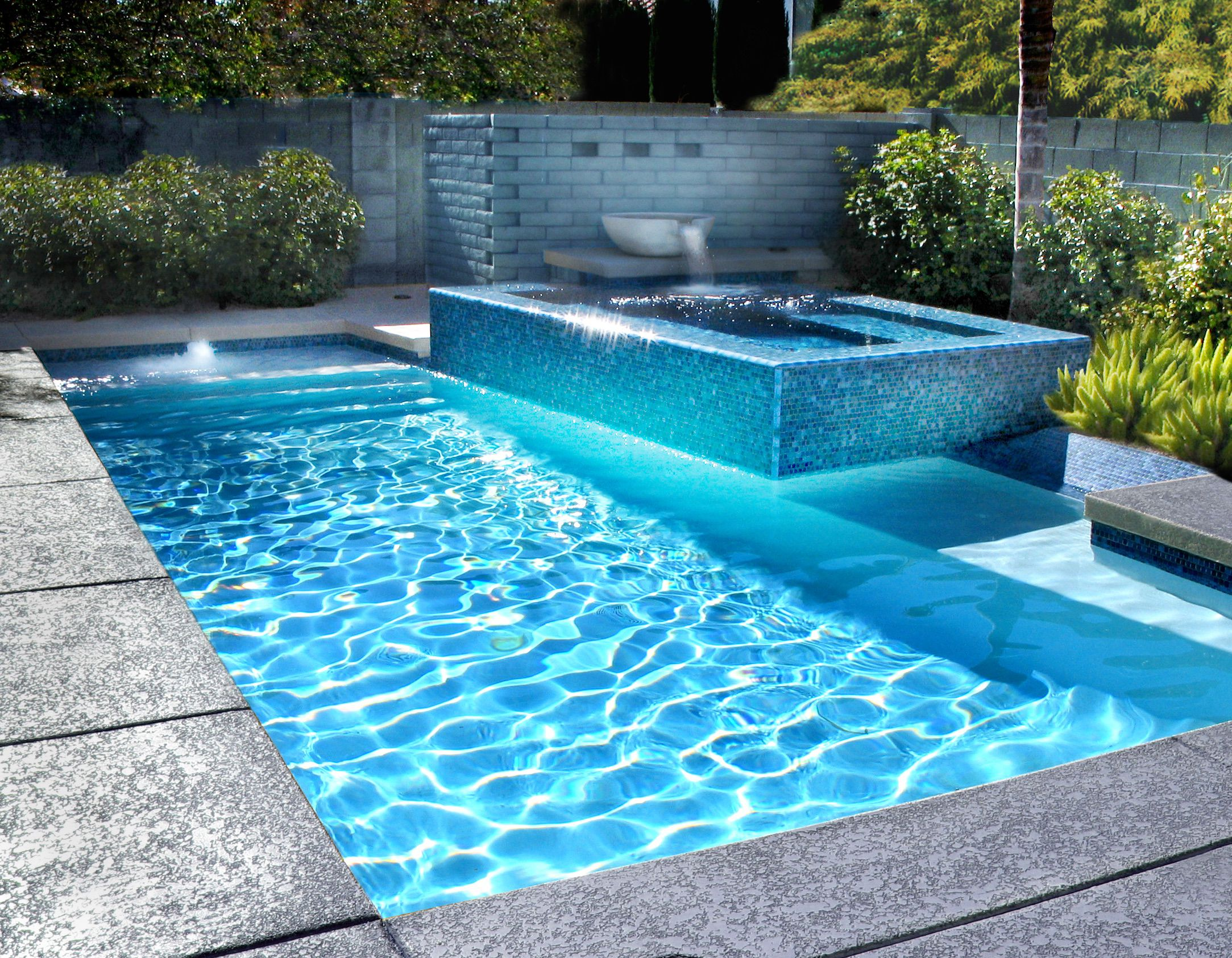 Brilliant blue pool