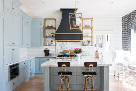 Beautiful Blue Kitchen Design Ideas - Blue and grey kitchen ideas