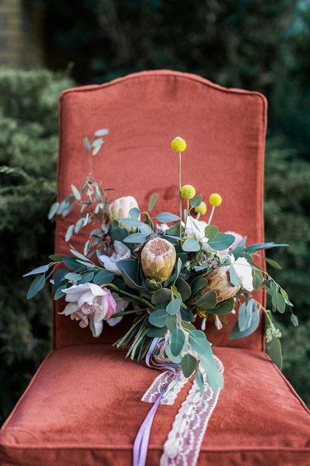 Billy Ball Bouquet de bodas de verano