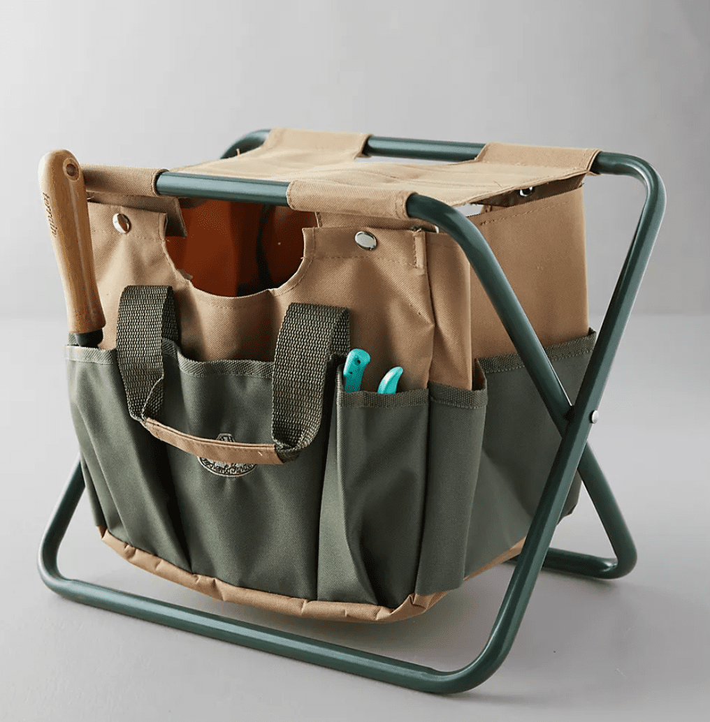 Anthropologie Canvas Carry-All Garden Stool