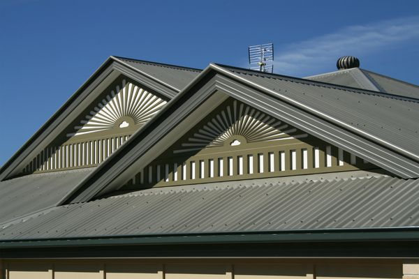 Close-up view of a house roof.