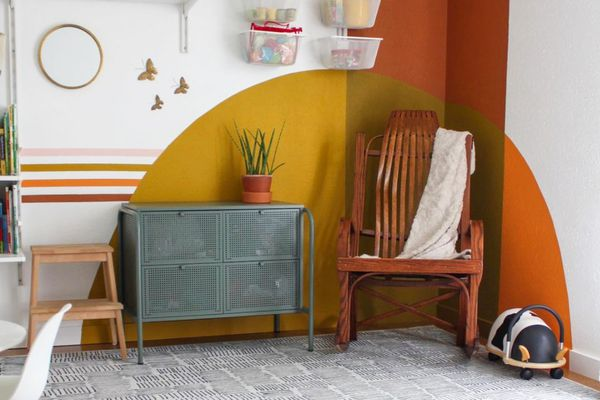 painted arch in a playroom