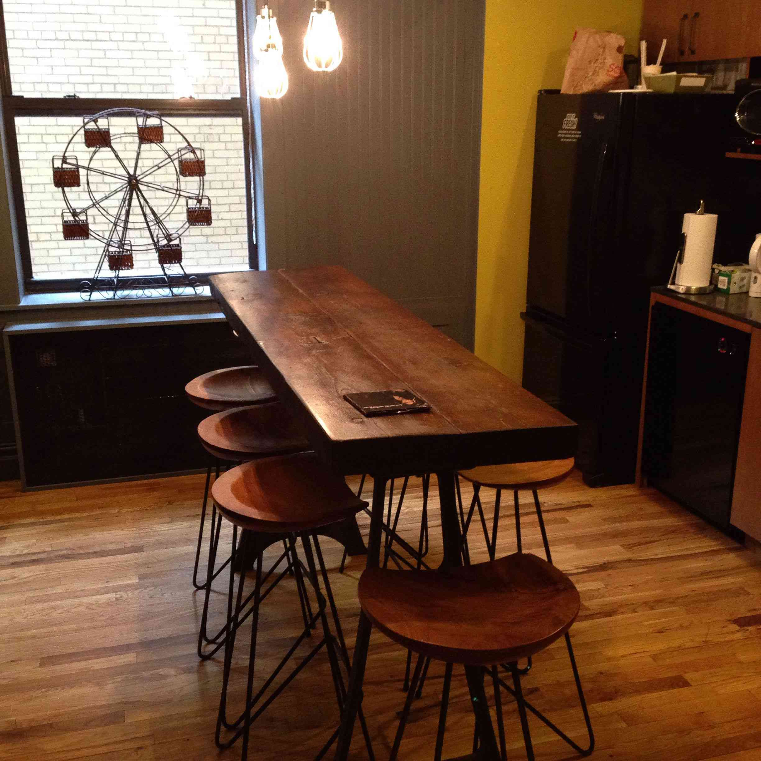 Kitchen with reclaimed wood table