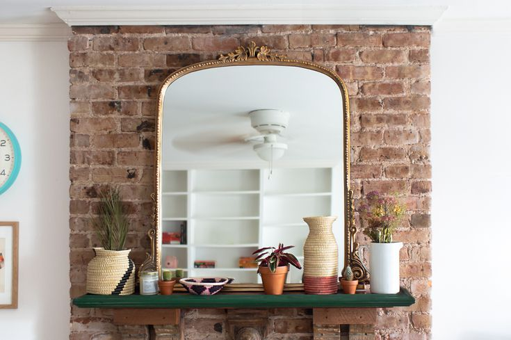 Fireplace Mantel Decoration Tips And Ideas, Large Mirrors For Fireplaces