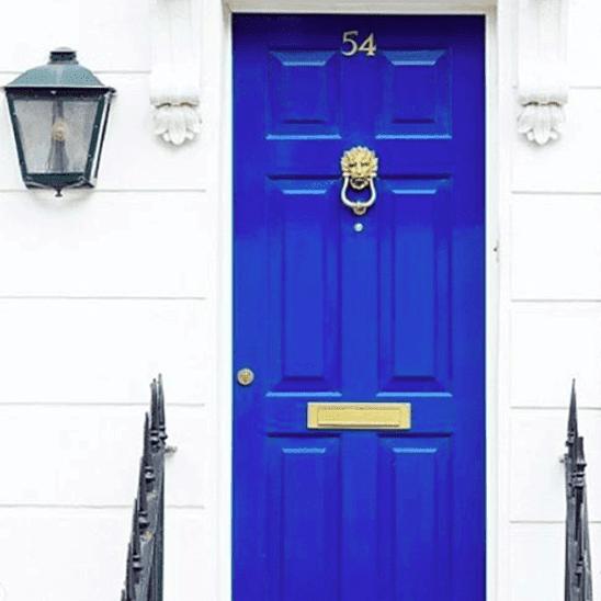 Brilliant Blue door
