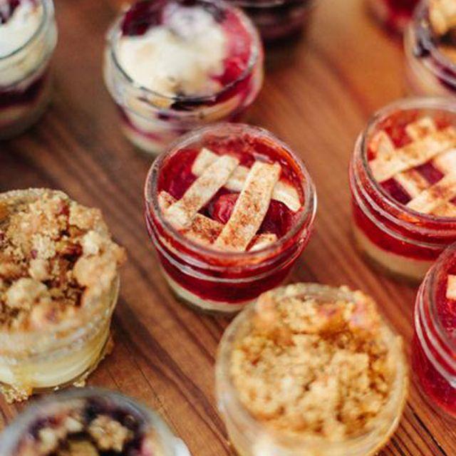 Wedding Reception Pie or Cobbler Bar