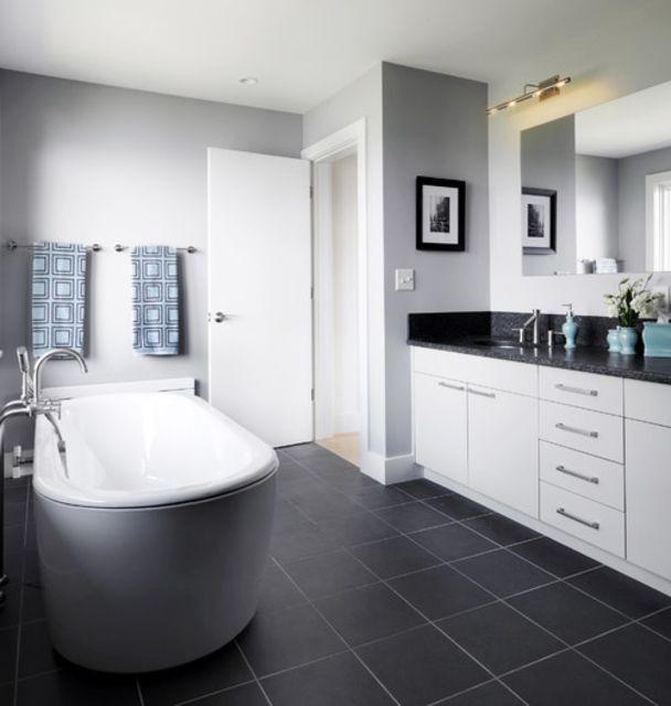 Bathroom Grey Walls: 23 Ideas For Beautiful Gray Bathrooms