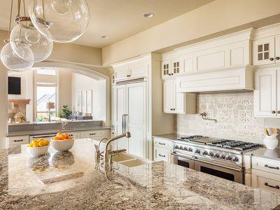 Beautiful Kitchen Countertop, Cabinets, and Island