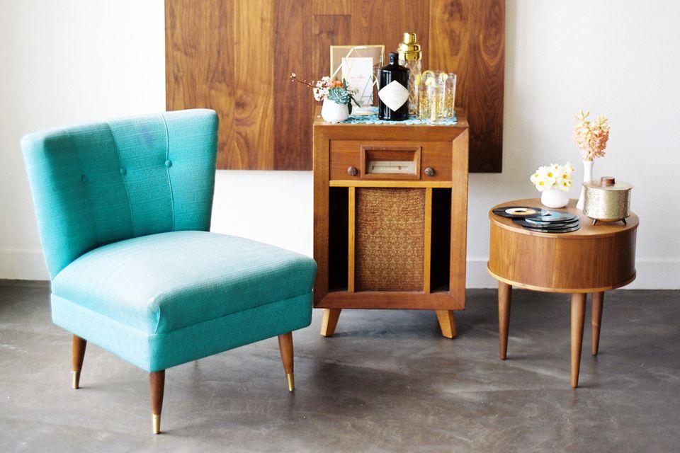 vintage furniture and decor