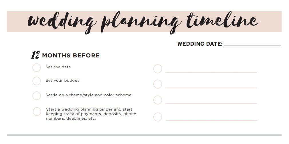 Wedding Timeline Checklist.11 Free Printable Wedding Planning Checklists