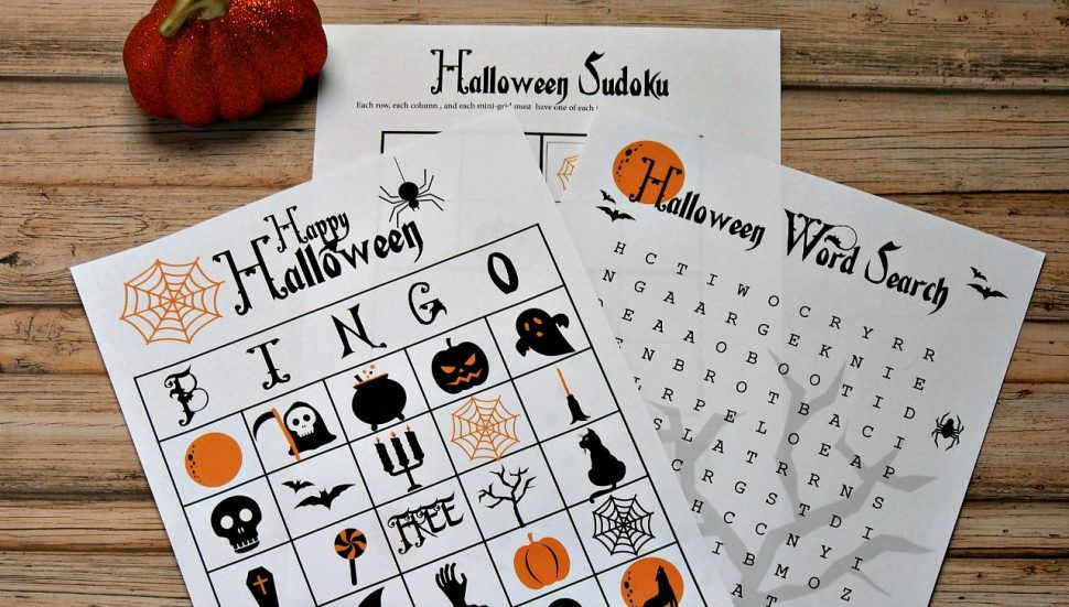 Lucrative image inside printable holloween games