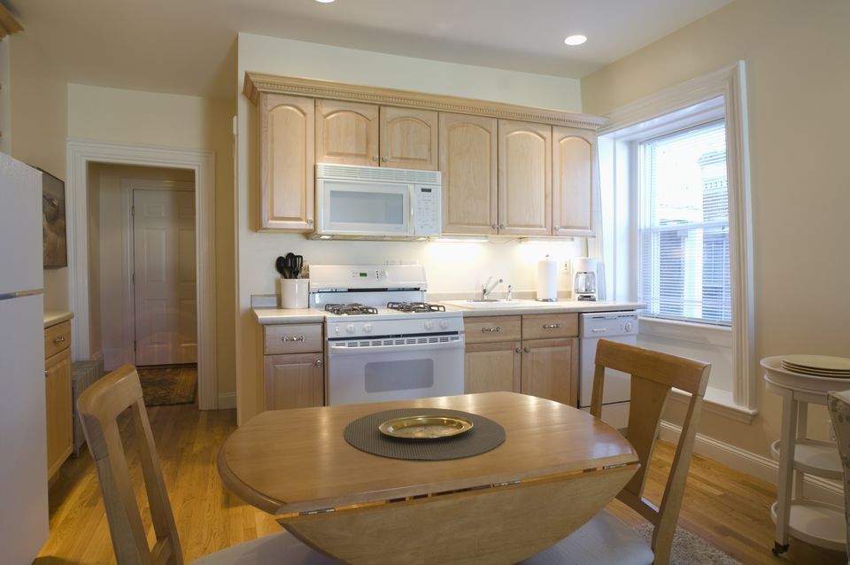 Kitchen in studio apartment