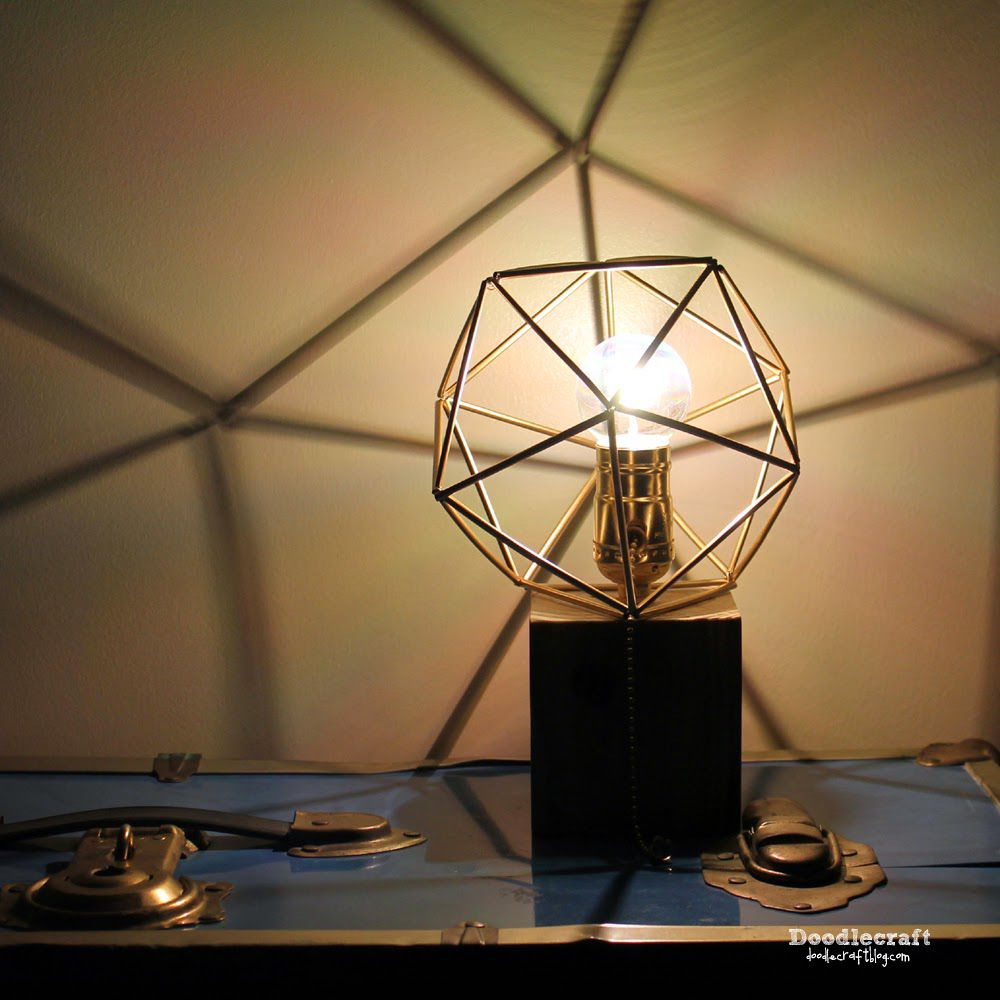 Modern DIY lamp.