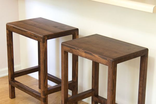 Two bar stools in a kitchen