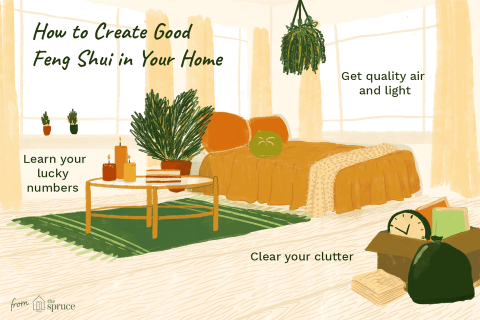 illustration of how to create good feng shui in your home
