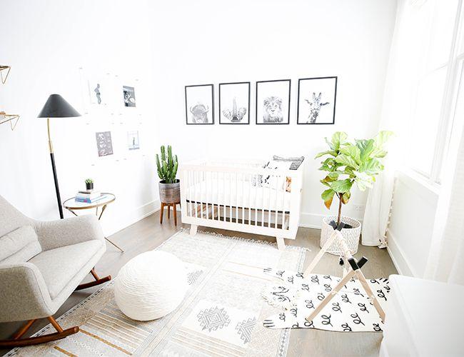 vivero moderno y minimalista con temas de animales