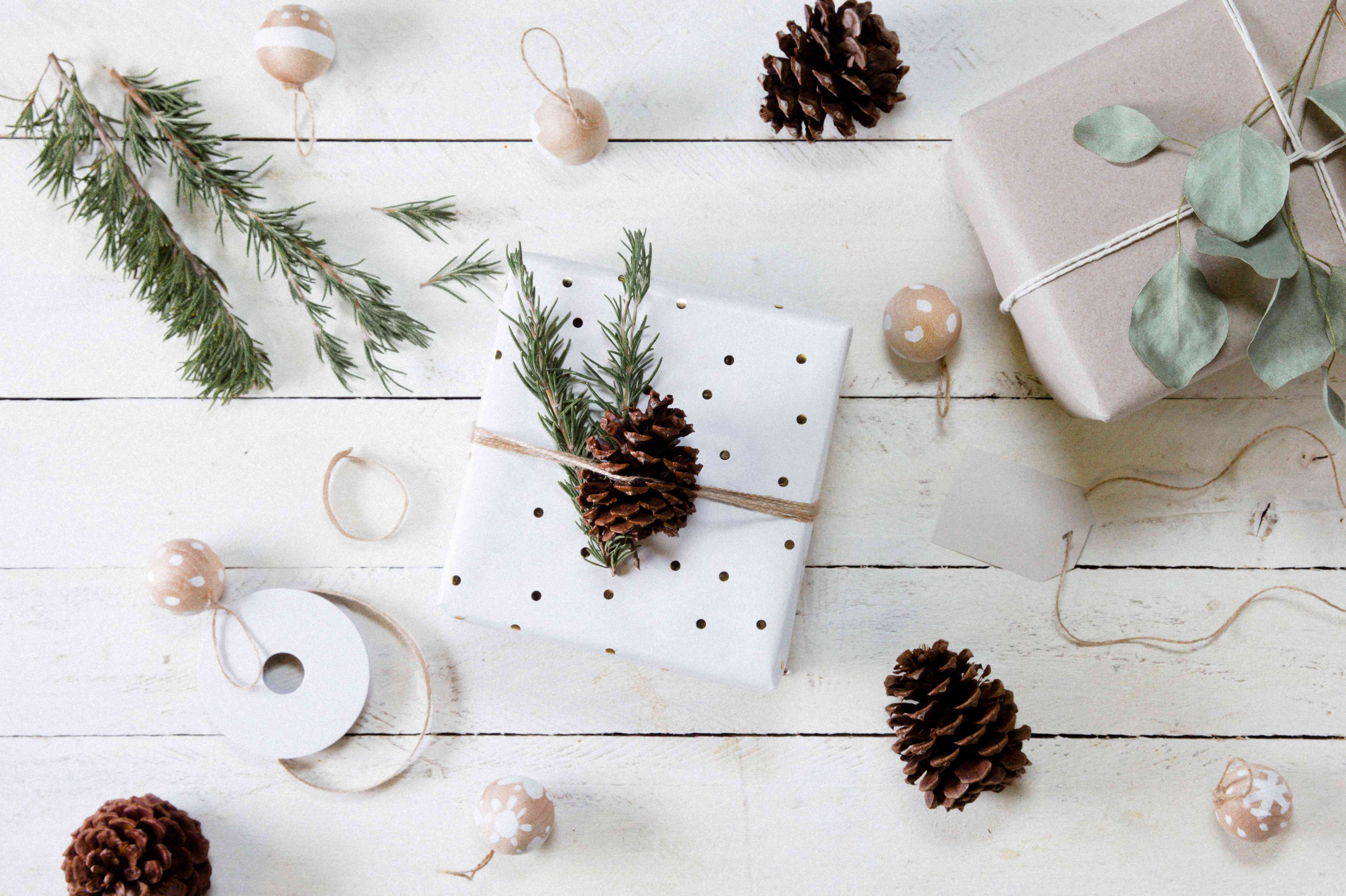 using pinecones to adorn your present