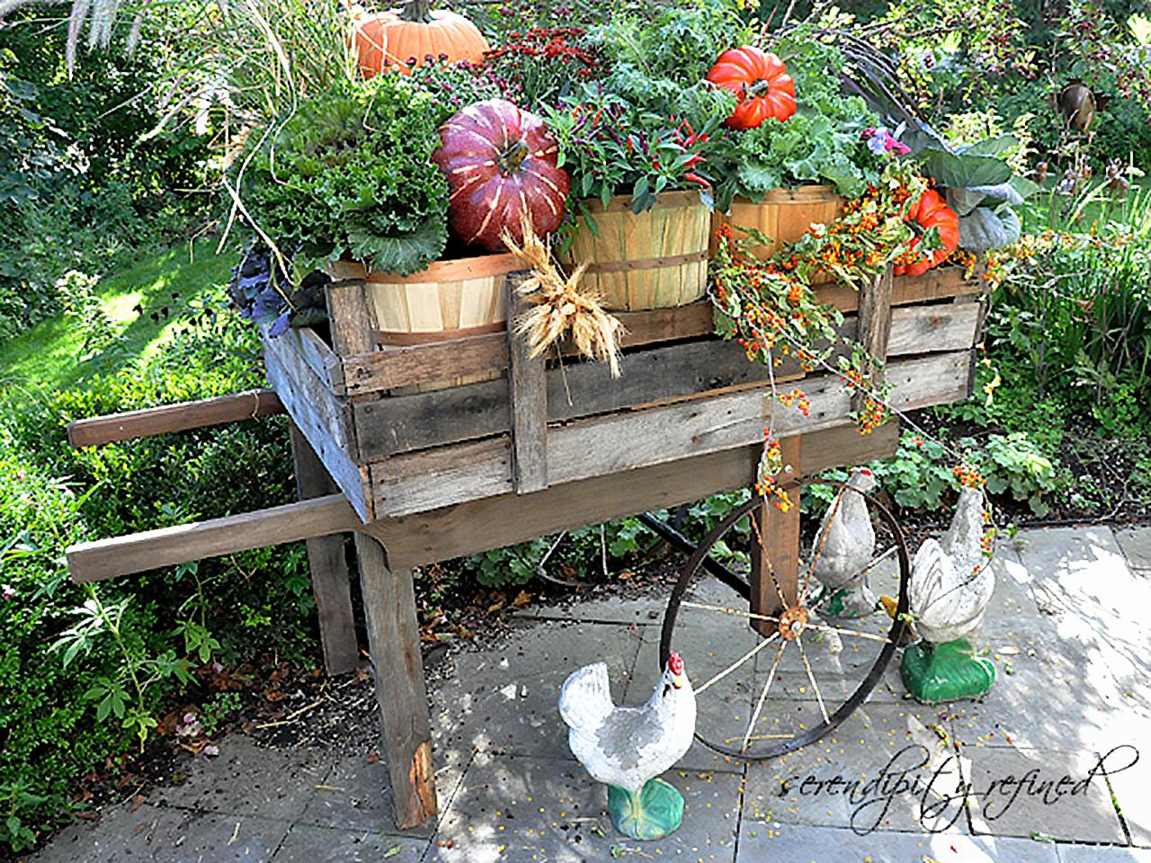 Wood Pallet Garden Cart