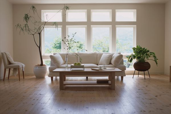 Living room with laminate flooring