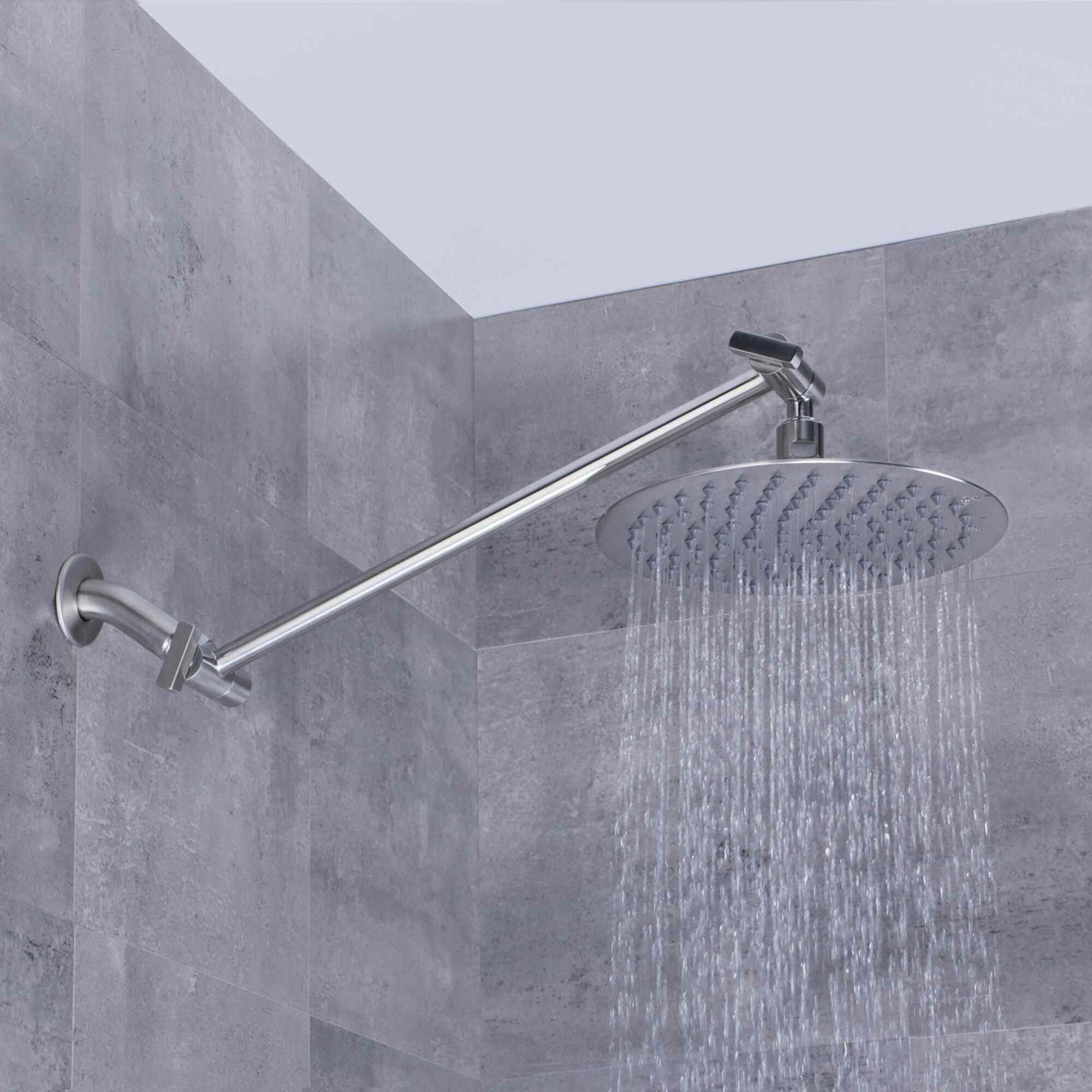 AFA Stainless Brushed Stainless Steel Rain Adjustable Shower Head