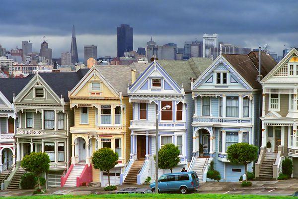 Victorian Painted Ladies in San Francisco.