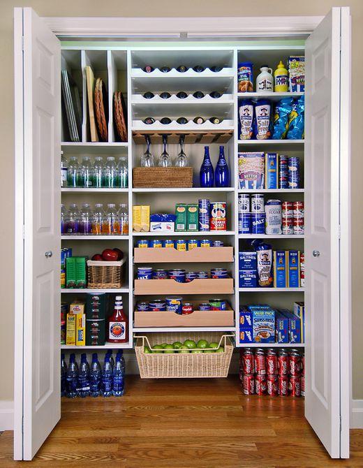 A big kitchen pantry