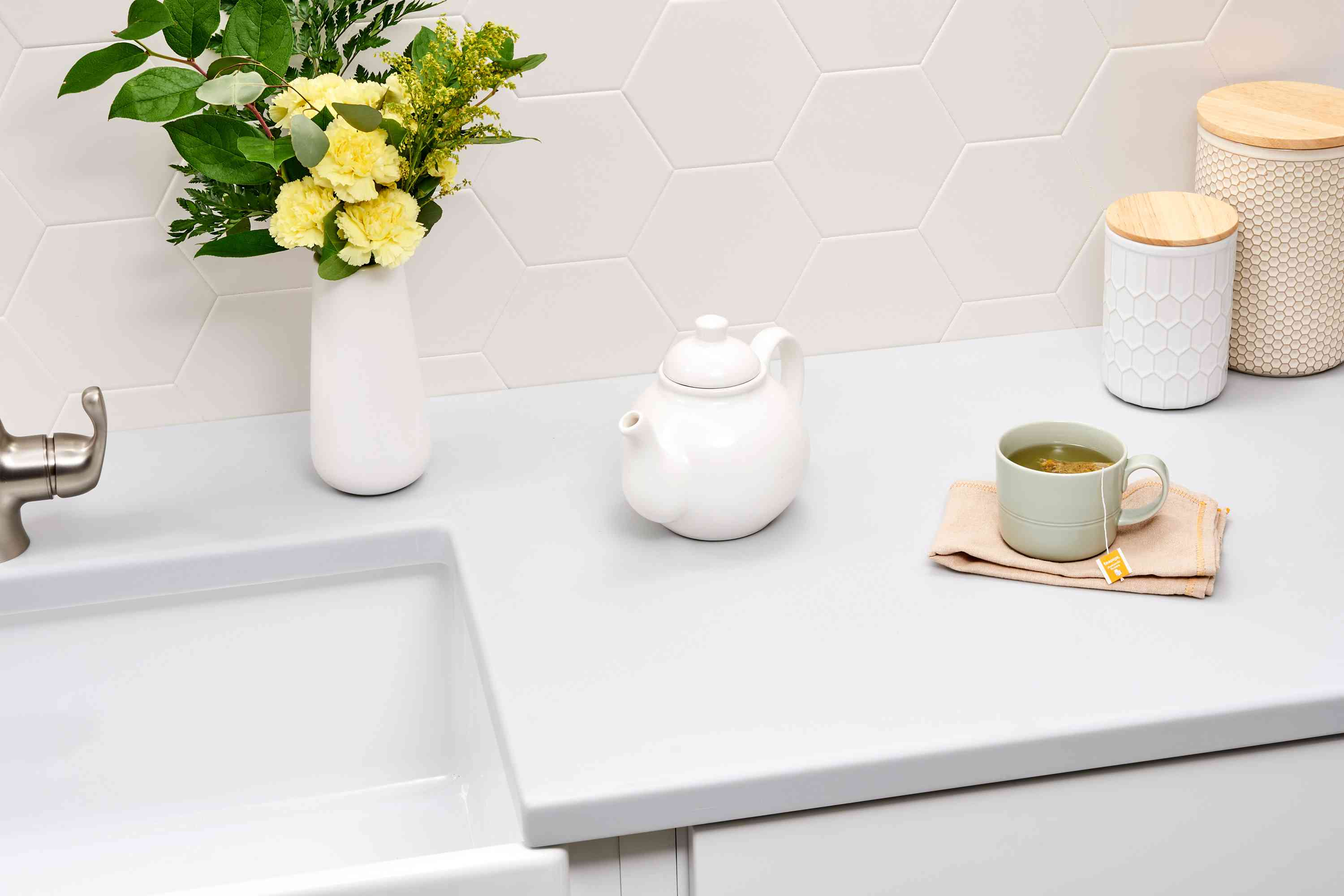 Kitchen solid surface countertop