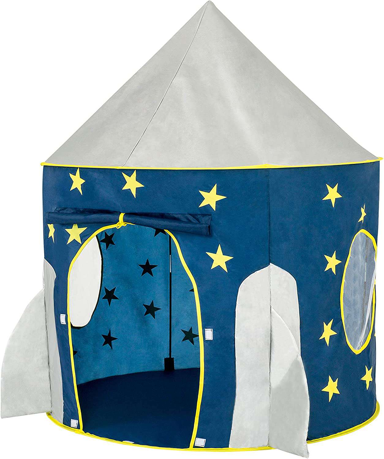 FoxPrint Rocket Ship Space Themed Pretend Play Tent