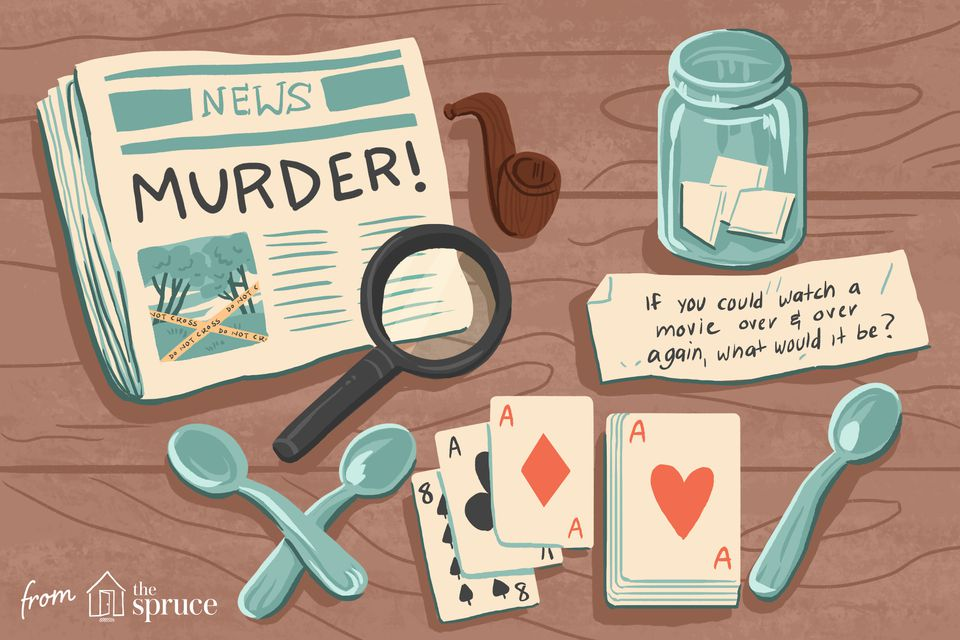 murder mystery party illustration