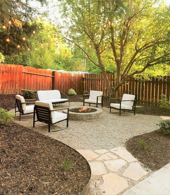 Transformación del pozo de fuego del patio trasero - Después