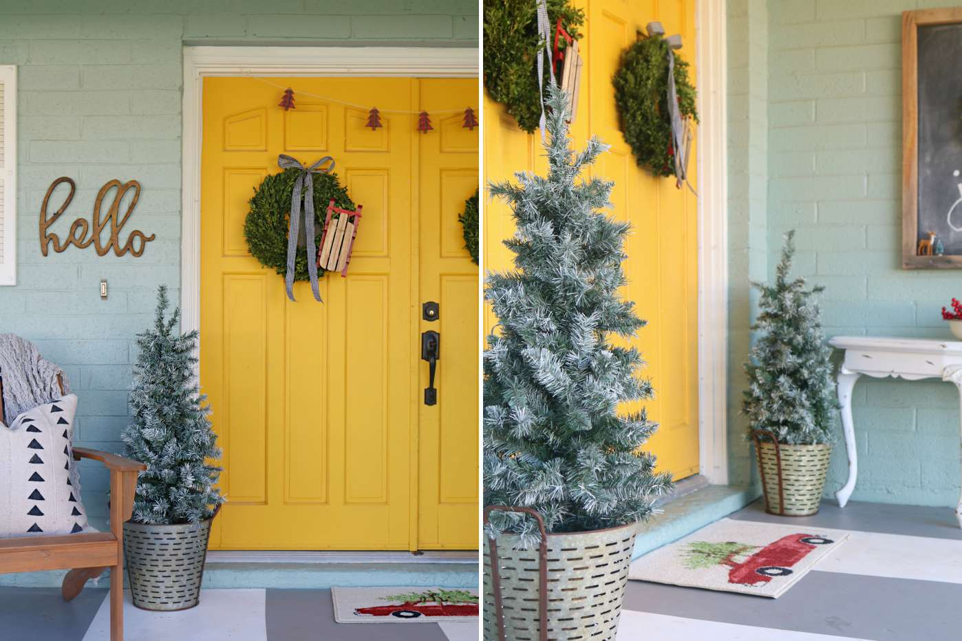33 Ways To Decorate Your Front Porch For Christmas