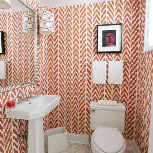 19 Beautiful Wallpapered Bathrooms, Bathroom Wallpaper Patterns
