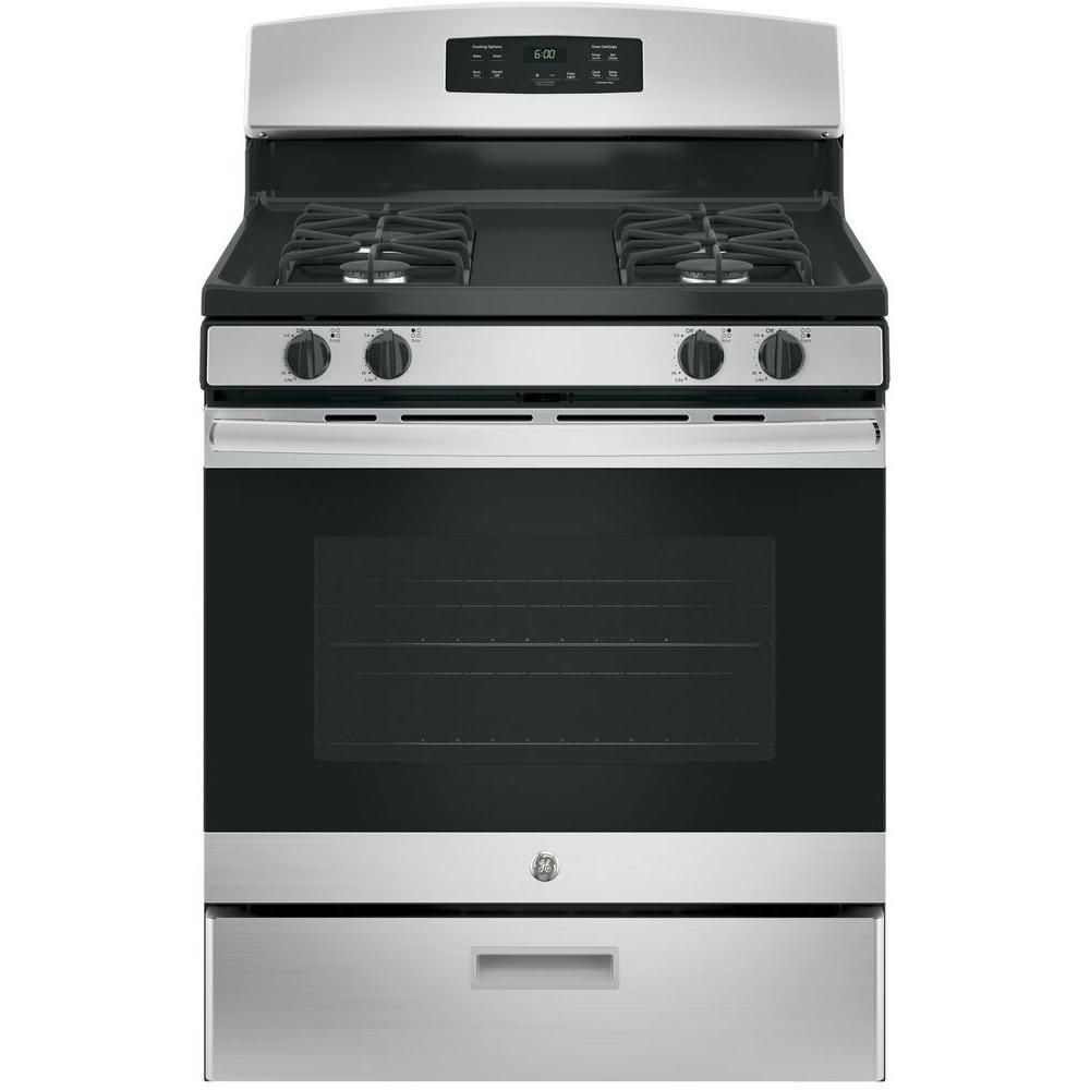 Free Standing Gas Range In Stainless