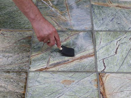 Repairing Marble Tile Grout Lines