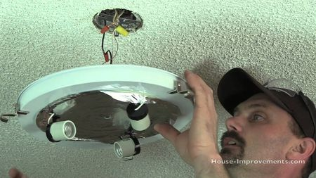 Remove Existing Ceiling Light Fixture