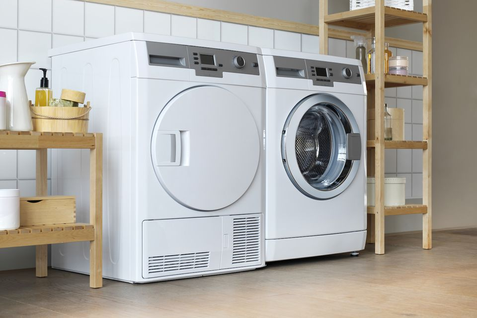 close-up of a washer and dryer