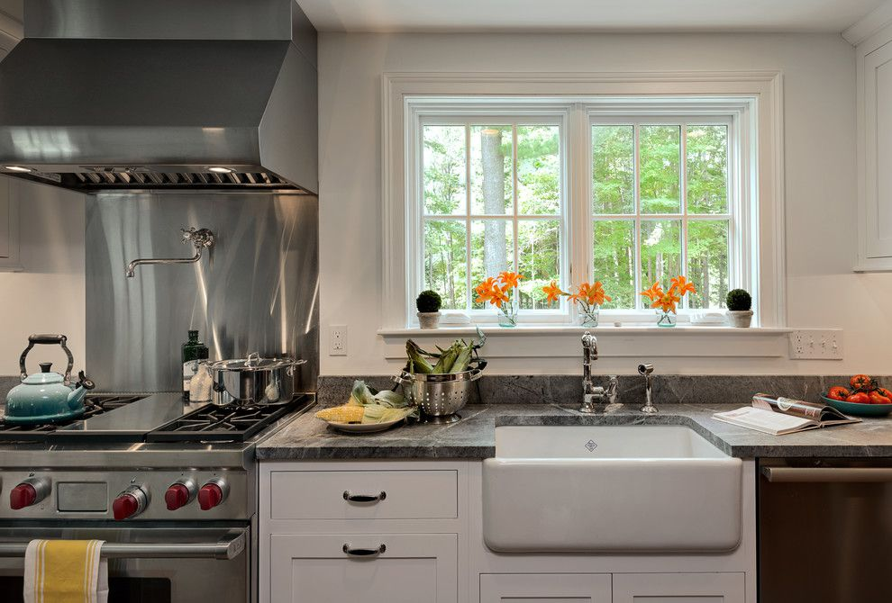 Gray Granite Kitchen Countertop Farmhouse Kitchen