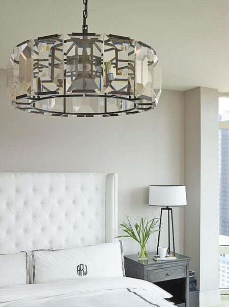 A Contemporary Crystal Chandelier
